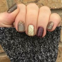Jamberry. Mixed mani. Fall mani. Fashionably late gel