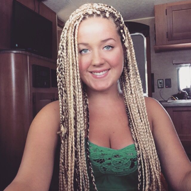 white girls red hair with braids blonde box braids looks