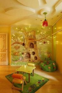 Enchanted forest wall mural