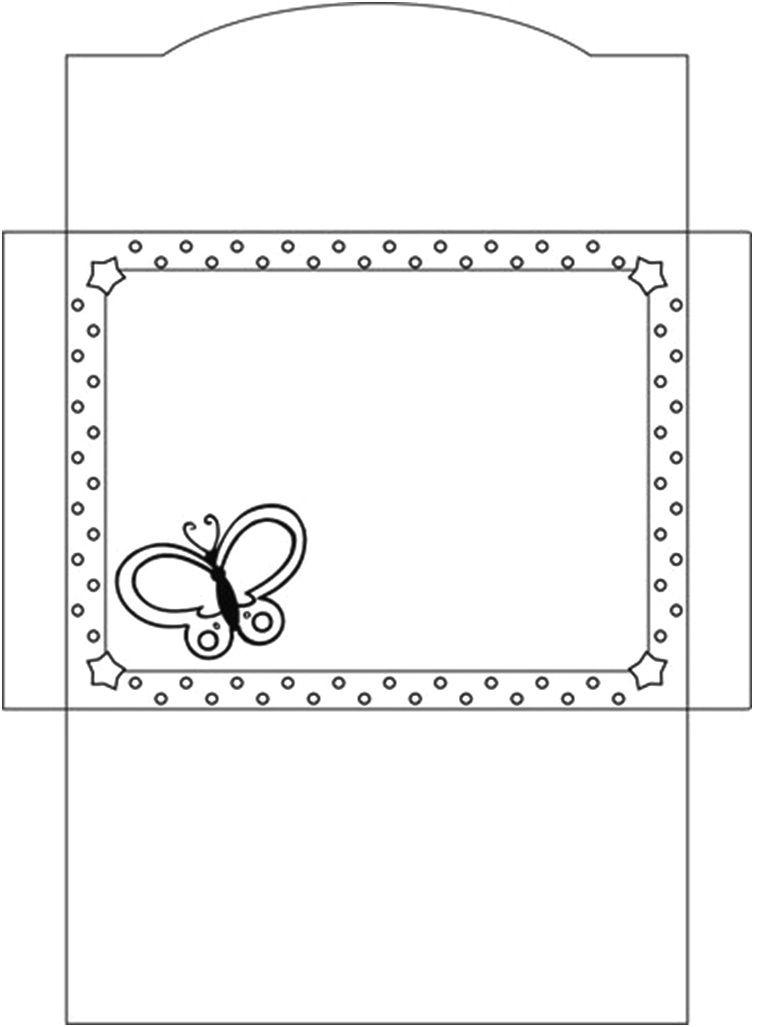 Moldes embranco de envelopes para confeção de convites