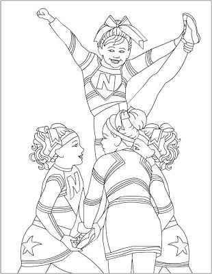 Free Coloring Pages: Cheerleading Coloring pages Baby Camp