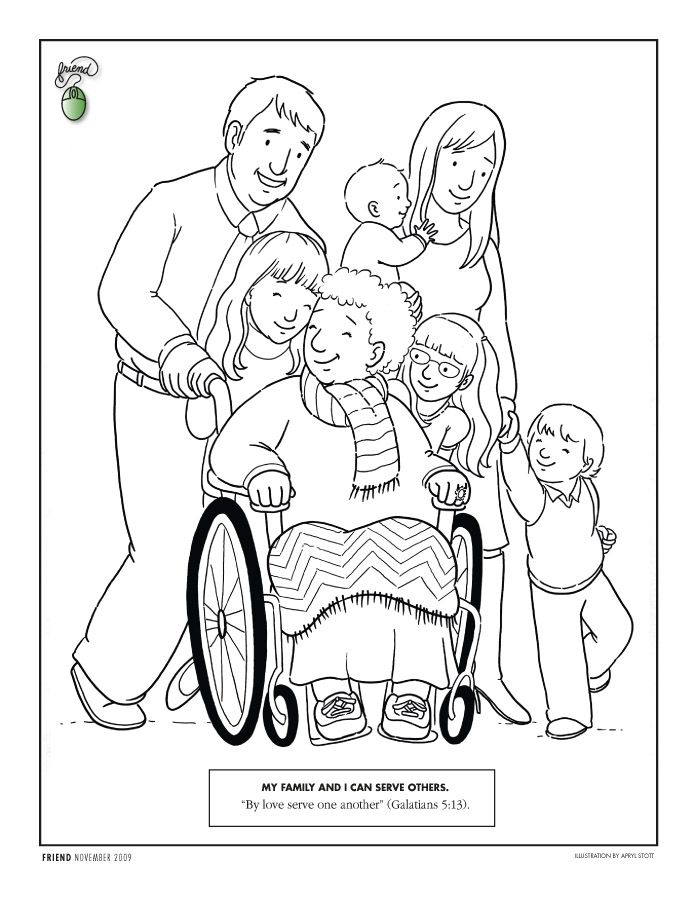 family pushing a woman in a wheelchair Lesson 39: I Can