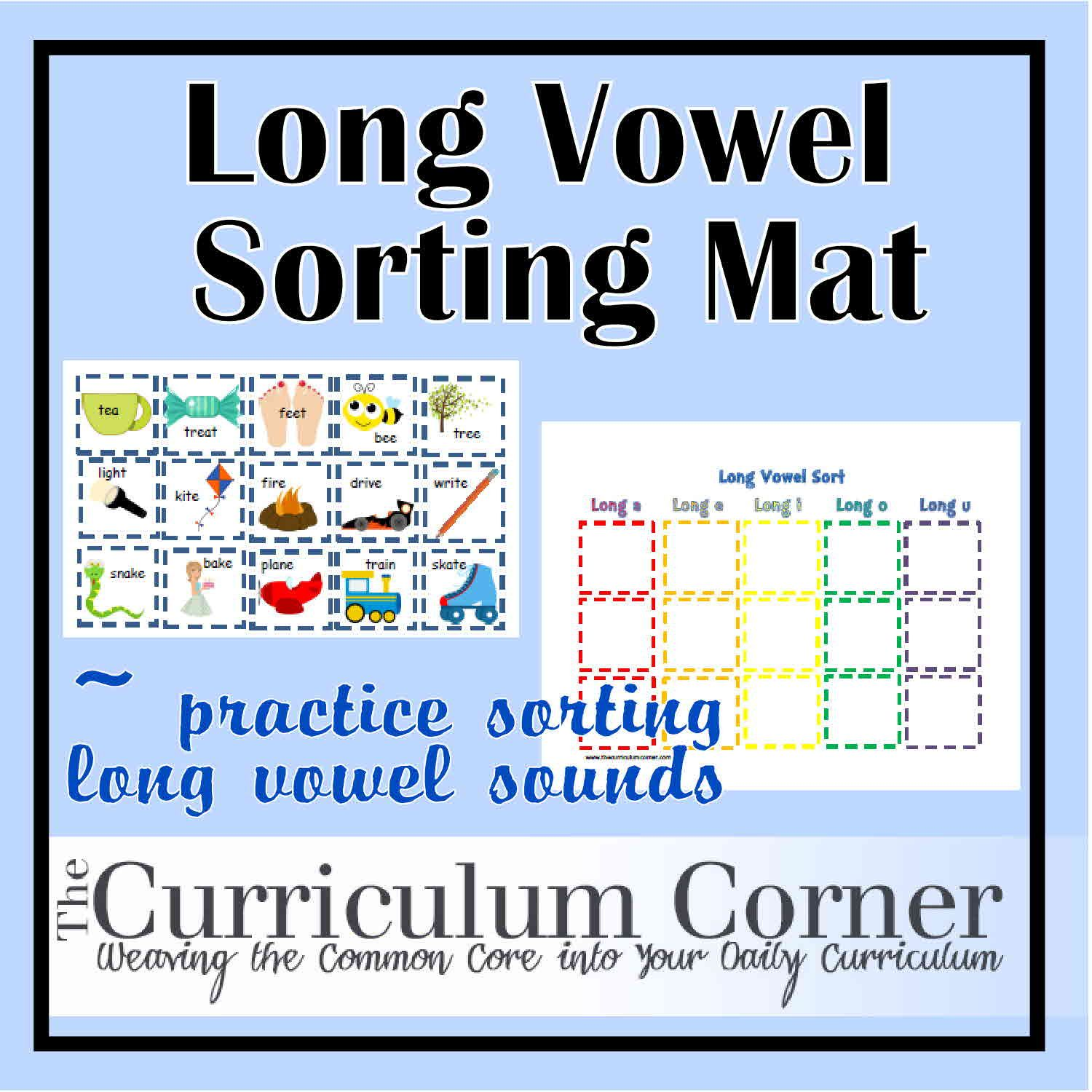 Long Vowel Sorting Mat