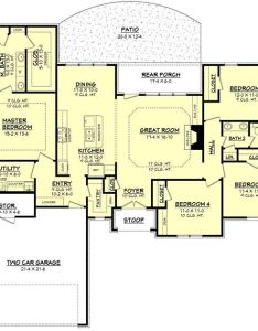 Ranch style house plan beds baths sq ft main floor never thought  would like  layout but actually this also level plans pinterest rh