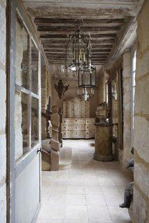 Rustic Hallway. French Limestone Tiles