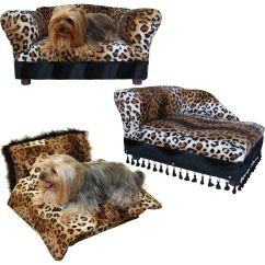 Tiger Print Sofa Set Circle Settee Hotel Lobby Fantasy Furniture 3 Pcs Pet Chaise And Bed In