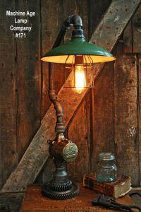 Steampunk Lamp Industrial Machine Steam Gauge Light Train ...