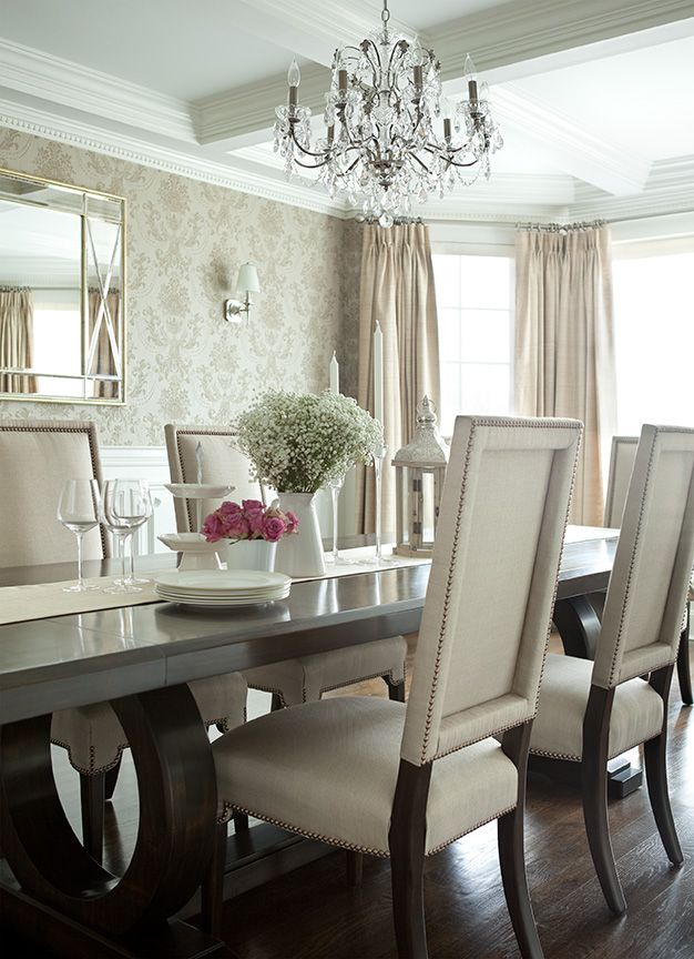 The Elegant Abode Li Dining Room Glam Dining Room, Crystal