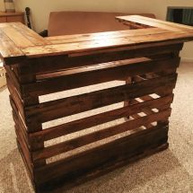 Gorgeous Pallet Bar Built 100 Wood Angry