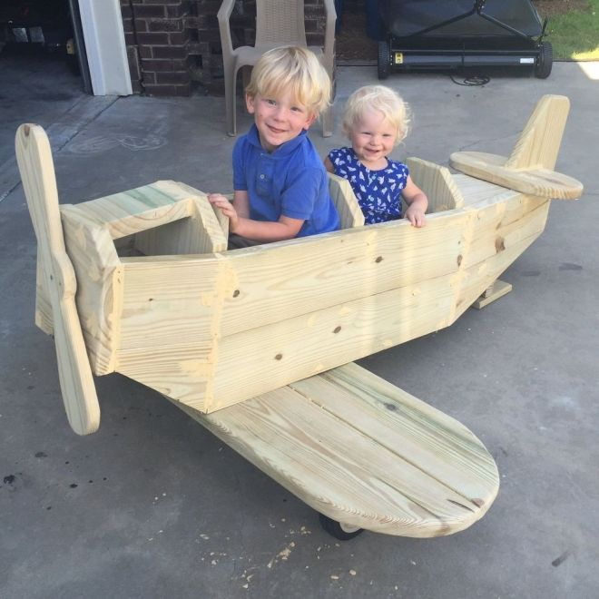 Diy airplane play structure airplanes plays and woodworking