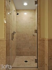Tiled Shower Stalls   ... separate shower stall with glass ...