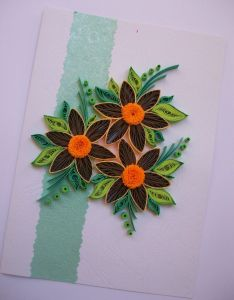 Birthday card quilling quilled paper  also rh pinterest