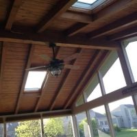 lining a ceiling with exposed beamswhite skylight - Google ...