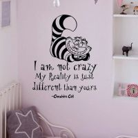 Alice In Wonderland Wall Decals Quotes Cheshire Cat I Am ...