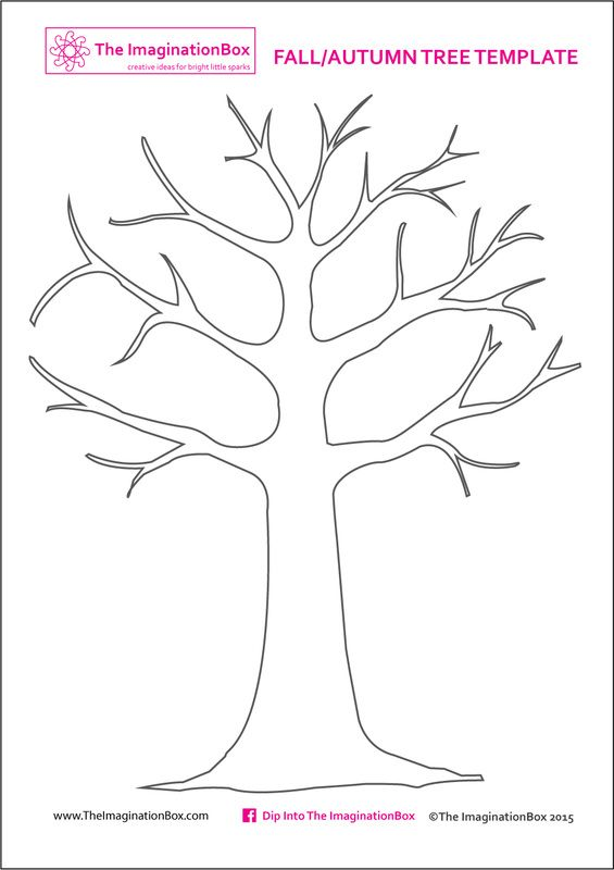 Print this free Tree Template from The ImaginationBox to