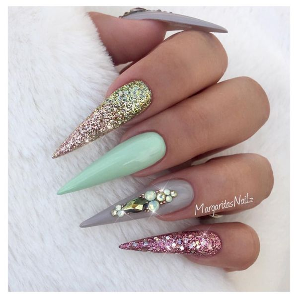 20 Green Ombre Coffin Nails Pictures And Ideas On Meta Networks