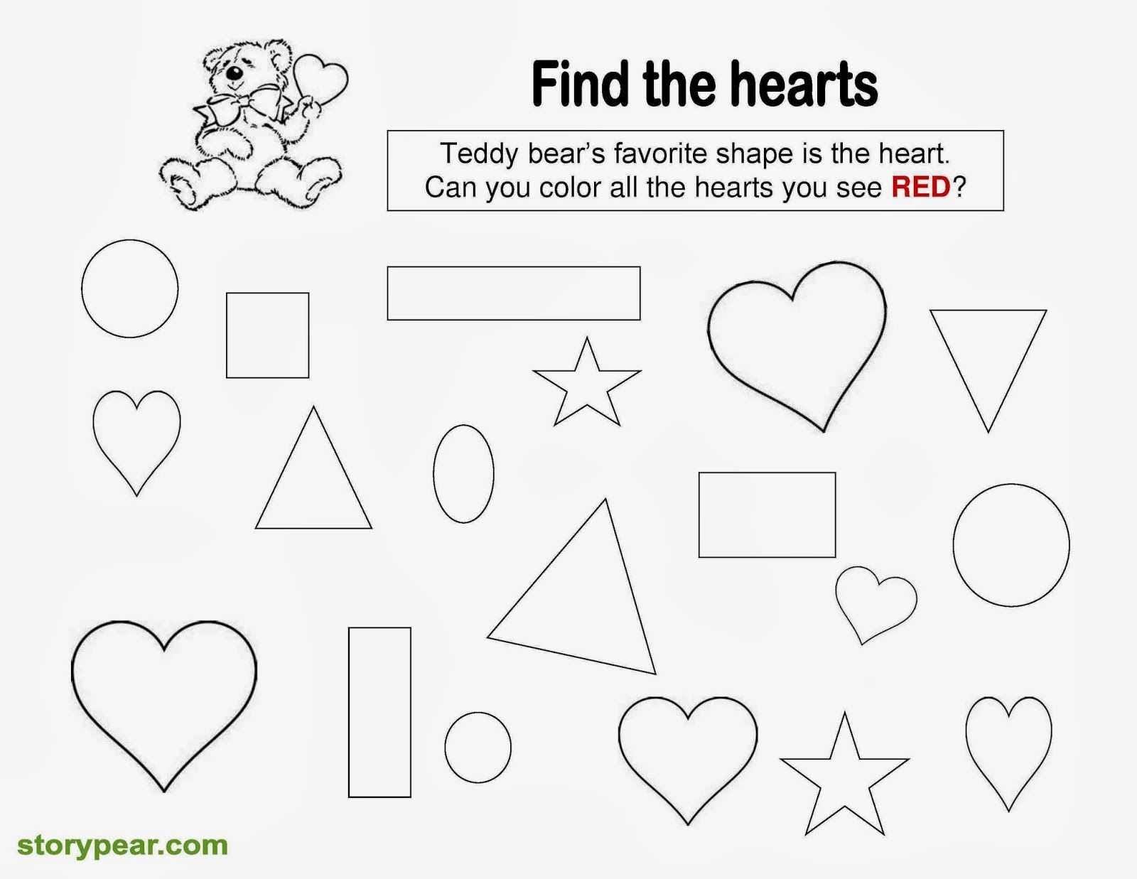 Story Pear Free Valentine Day S Printable Sheets For