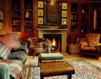 tartan plaids in Ward Denton home in Scotland... in a ...