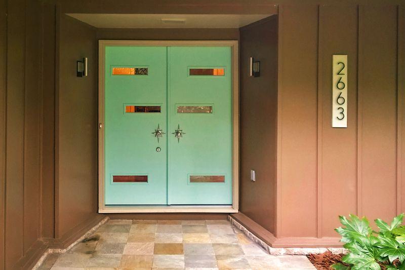 DIY Midcentury Modern Double Doors