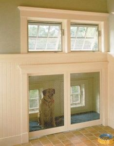 Built in dog house with doggie door to outside would be awesome  mud room  sublime decor also ins for pets furballs pinterest crate houses rh