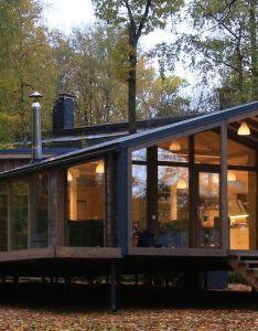Beautiful cabin pops up in ten days with minimal landscape disturbance also rh pinterest