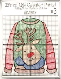 Christmas Math Activity - Ugly Sweaters Plotting Points ...