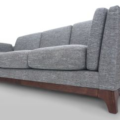 Gray Fabric Sofa Chair Gambar Bed Inoac No 3 Seater With Solid Wood Legs Article Ceni