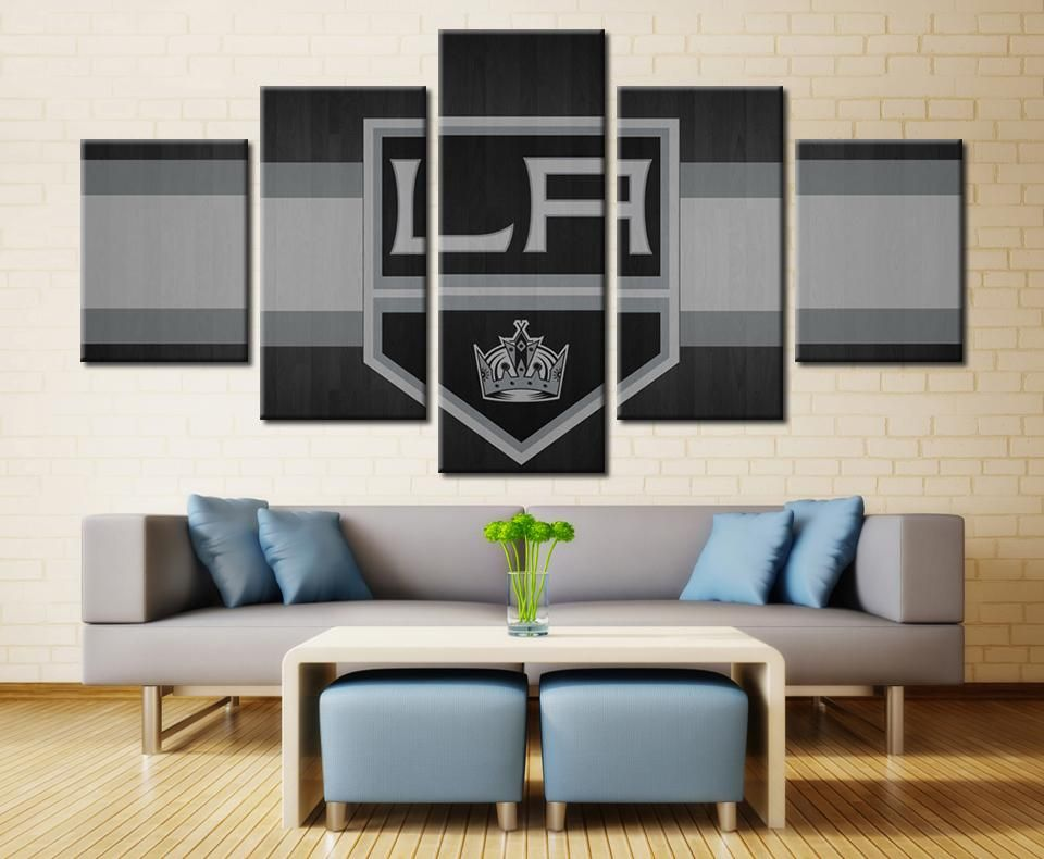 Los angeles kings nhl hockey panel canvas wall art home decor also rh pinterest