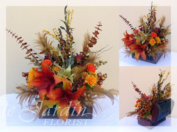 Flower Silk Thanksgiving Arrangements