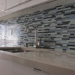 Blue Tile Backsplash Kitchen Pendant Lights Luxury Blak White And Mosaic Ideas