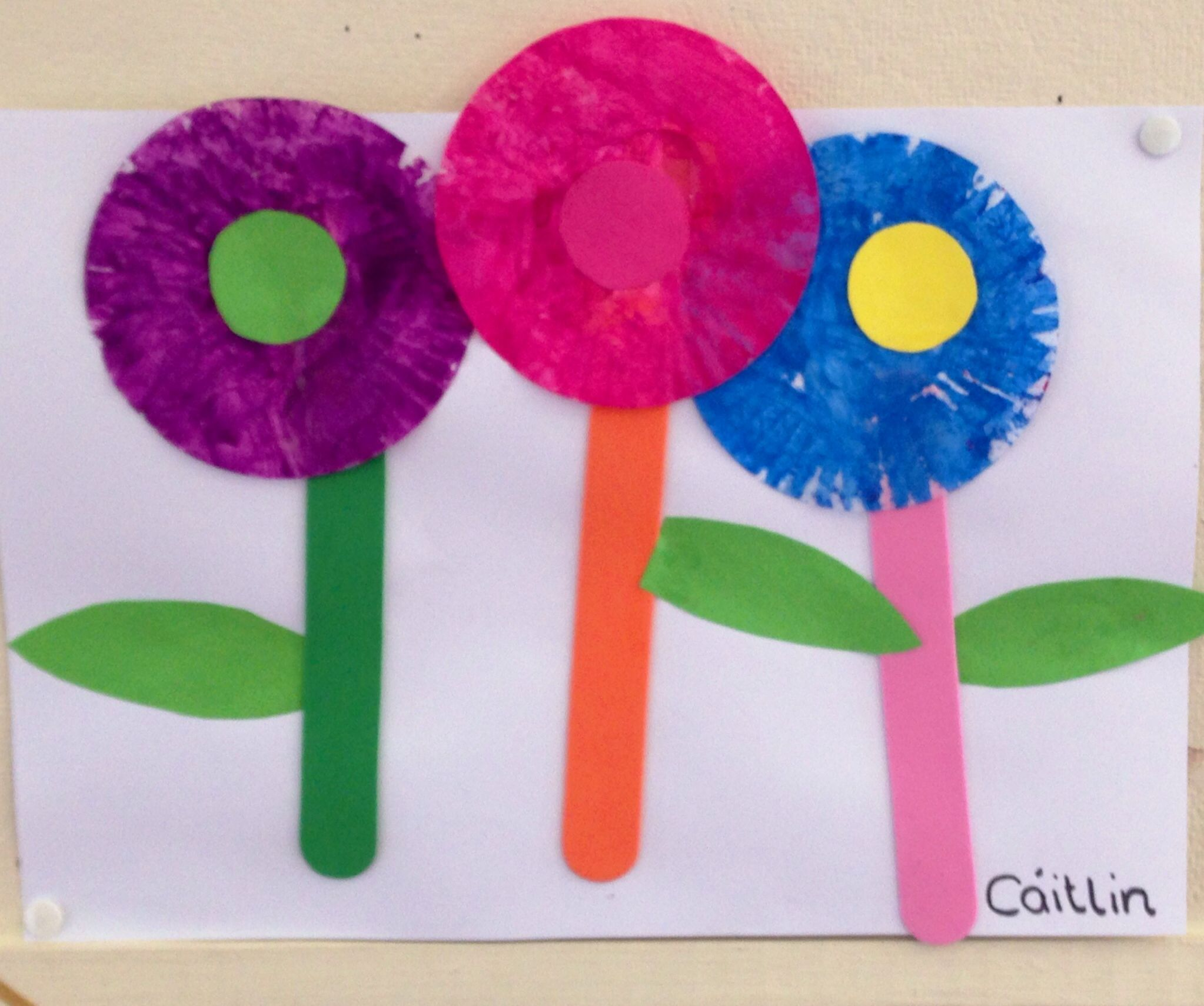 Montessori Preschool Flower Craft