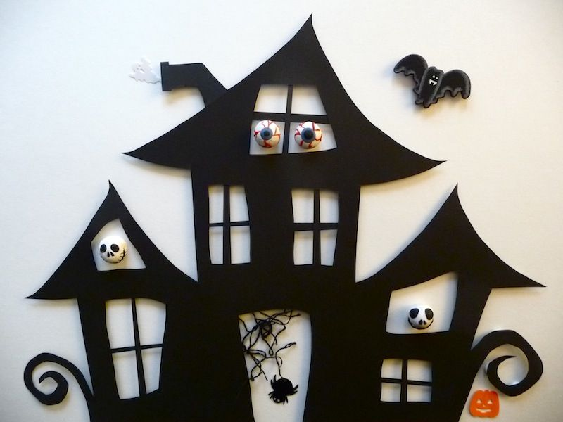 Cute Haunted House Cutout Create Your Own With The Tutorial