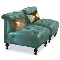 TURQUOISE LEATHER CHAIR   Home & Ranch   Pinterest ...