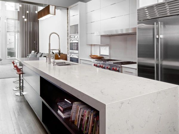 cambria kitchen countertops Sleek contemporary kitchen with Cambria Swanbridge collection countertops | Kitchen Design