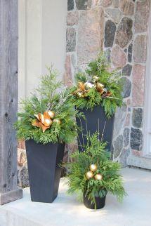 Outdoor Christmas Planter Planters