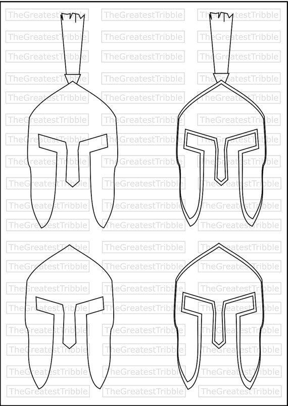 Spartan Helmet Front SVG PNG JPG Vector by