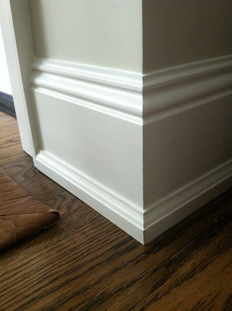 Instead of the typical quarter round  millwork