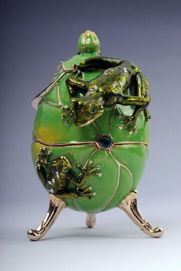 Frog Trinket Box Keren Kopal Swarovski Crystal Jewelry