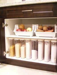 Cabinet pantry with storage for onions, potatoes and ...