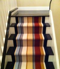 Stair runner in Newport Beach, CA. Missoni wool stripe