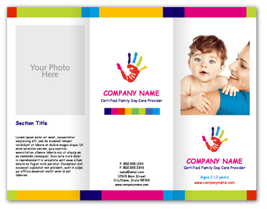 Child Care Brochure Examples Ideal Vistalist Co