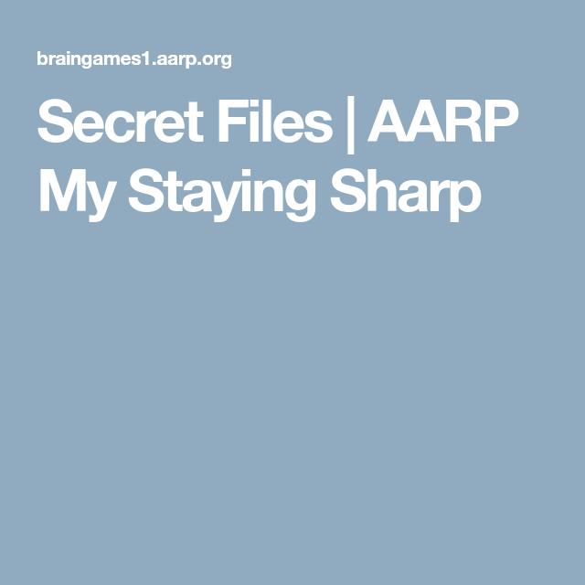 Words Sharp My Aarp Staying Split