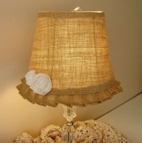 burlap lamp shade | Crafts I Would Love To Do! | Pinterest ...