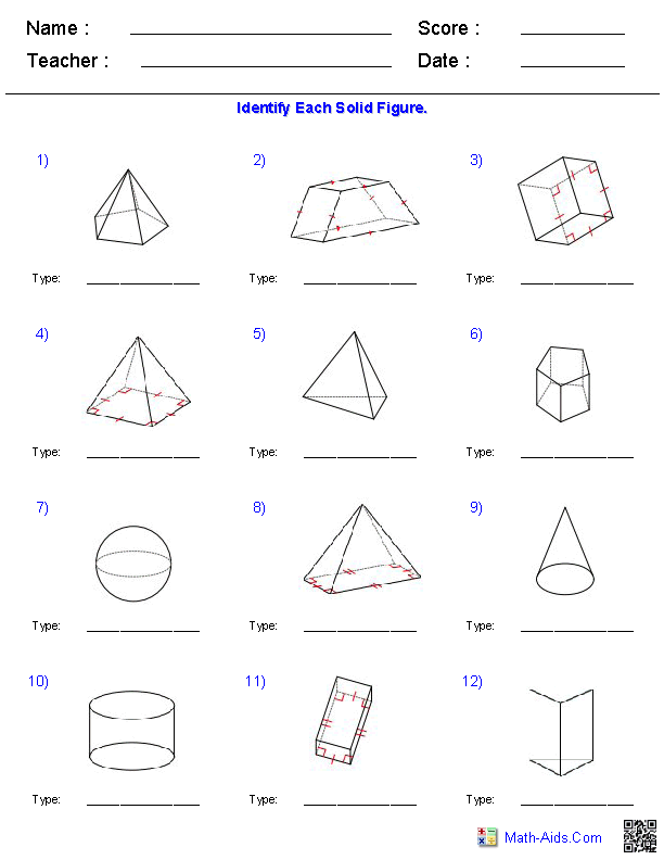 Triangular Prism Worksheet Kindergarten Teaching