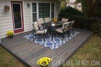 DIY Concrete Patio Cover-Ups   Diy concrete patio, Stained ...