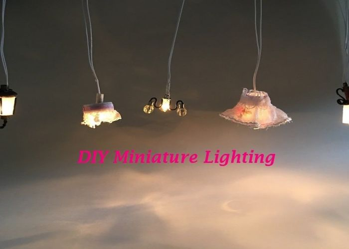 diy miniature dollhouse lighting miniatura de lumin rias para casinha boneca youtube also