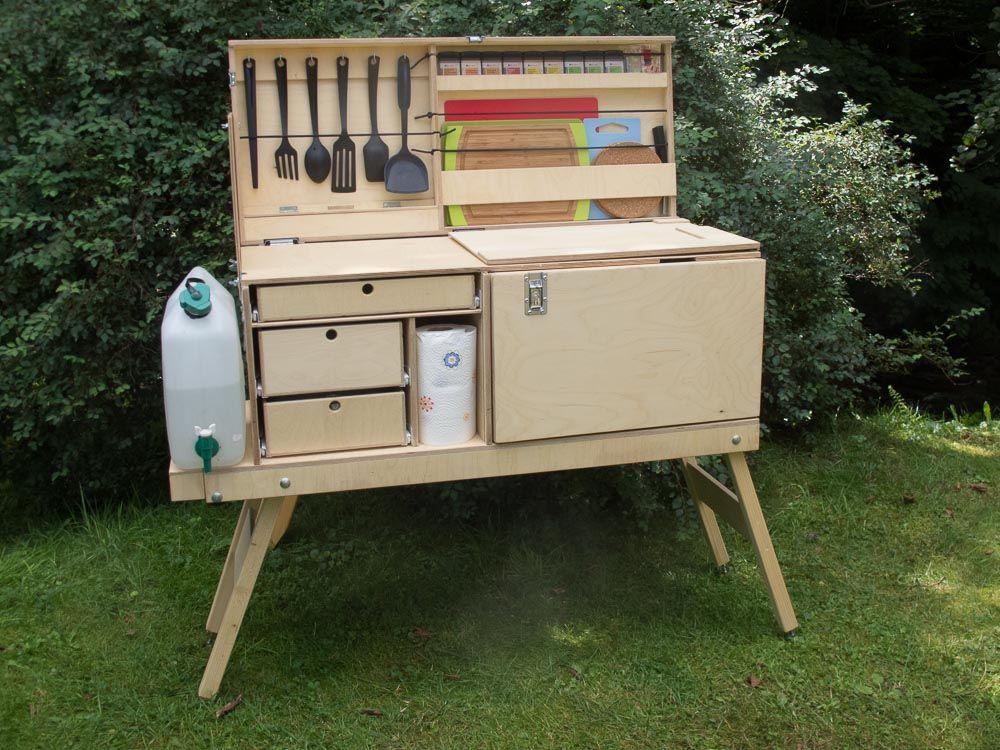 my camping kitchen  chuck box  camping kitchen