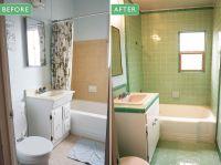 Laura's green B&W Tile bathroom remodel in progress   Mint ...