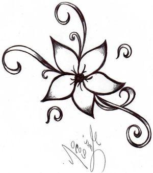 drawings easy drawing beginners flower sketches simple flowers draw