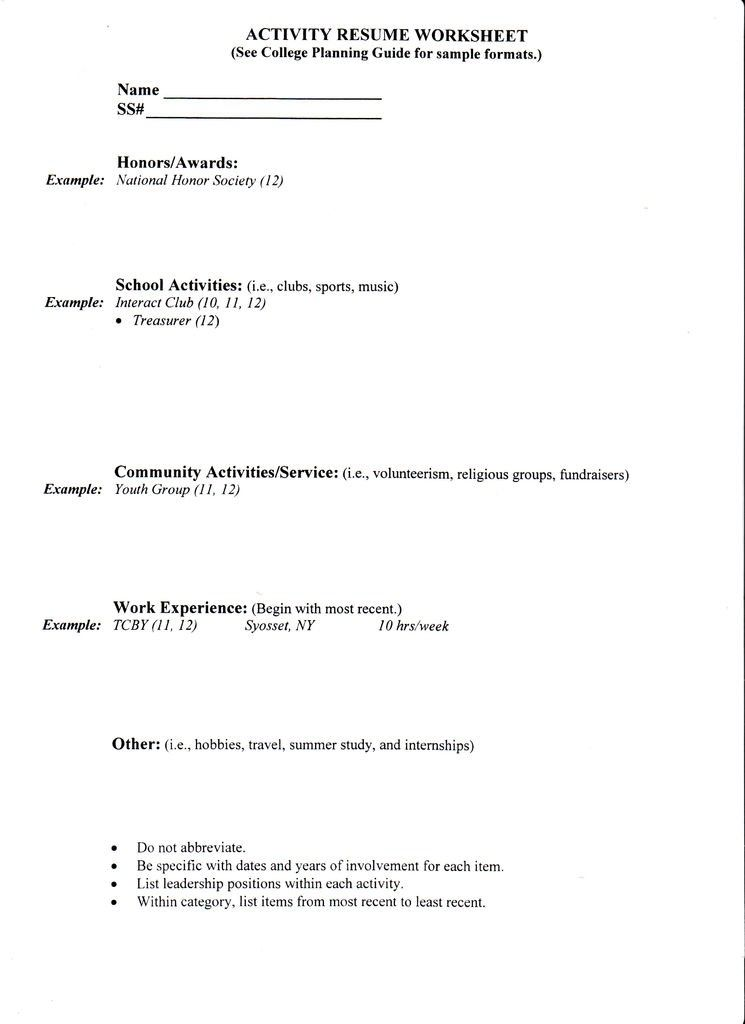 College Application Resume Template Jobresume Website